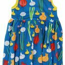 DUNS Garlic Chives and Onion Blue Sleeveless Gather Dress additional 1