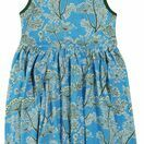 DUNS Dill Blue Sleeveless Gather Dress additional 1
