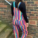 Run & Fly Bright Stripe Rainbow Stretch Twill Dungarees additional 2