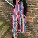 Run & Fly Bright Stripe Rainbow Stretch Twill Dungarees additional 5