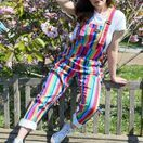 Run & Fly Bright Stripe Rainbow Stretch Twill Dungarees additional 4