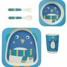 Frugi Bamboo Dinner Set-Penguin additional 2