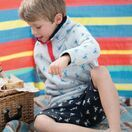 Frugi Snuggle Fleece, Grey Marl Lobster additional 2