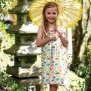 Frugi Porthcurno Party Dress - Soft White Parasols additional 3