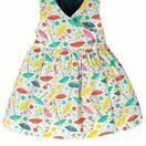 Frugi Porthcurno Party Dress - Soft White Parasols additional 2