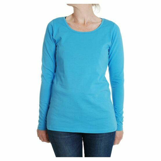 DUNS Adult MTAF Turquoise Plain Long Sleeve top