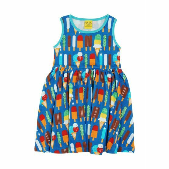DUNS Ice Cream Blue Sleeveless Gather Dress