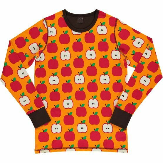 Last ones xsmall Adult Classic Apples Long Sleeve Top