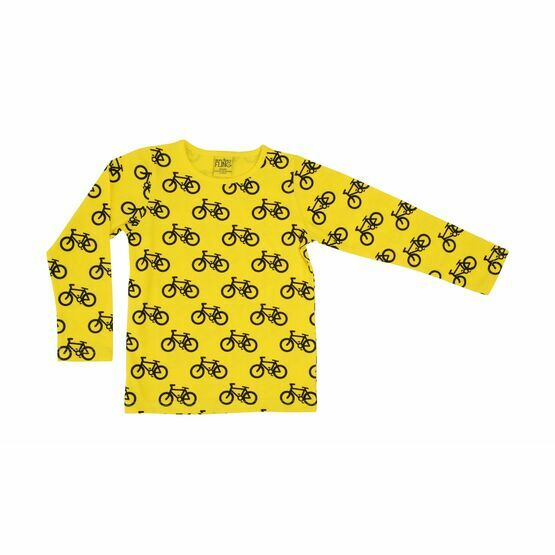 Adult MTAF Yellow Bike Long Sleeve Top